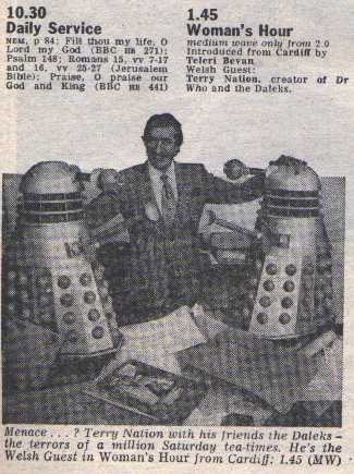 Terry with Daleks