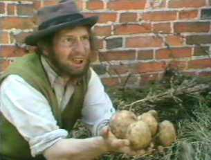 Tom finds some potatoes - Starvation